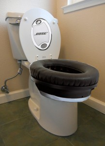 Noise Cancelling Toilet